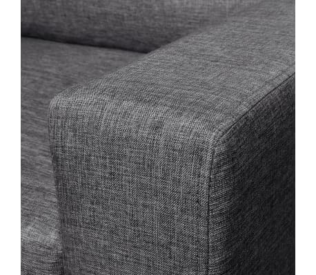 vidaXL Sofa 3-Seater Fabric Dark Gray[4/5]