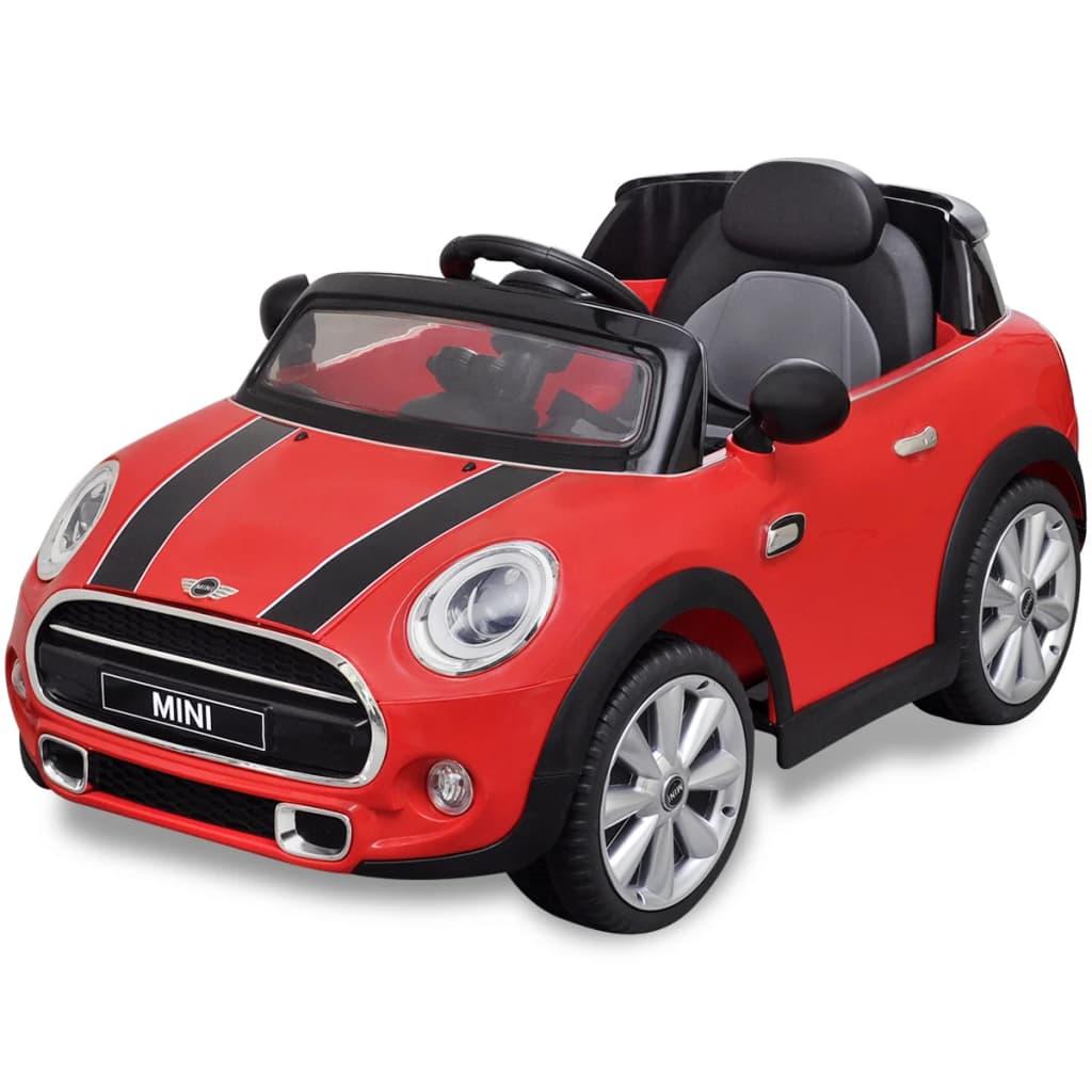 vidaXL Mașină de tip ride-on Mini Cooper S, Roșie imagine vidaxl.ro