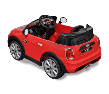 kinderauto elektroauto mini cooper s rot g nstig kaufen. Black Bedroom Furniture Sets. Home Design Ideas
