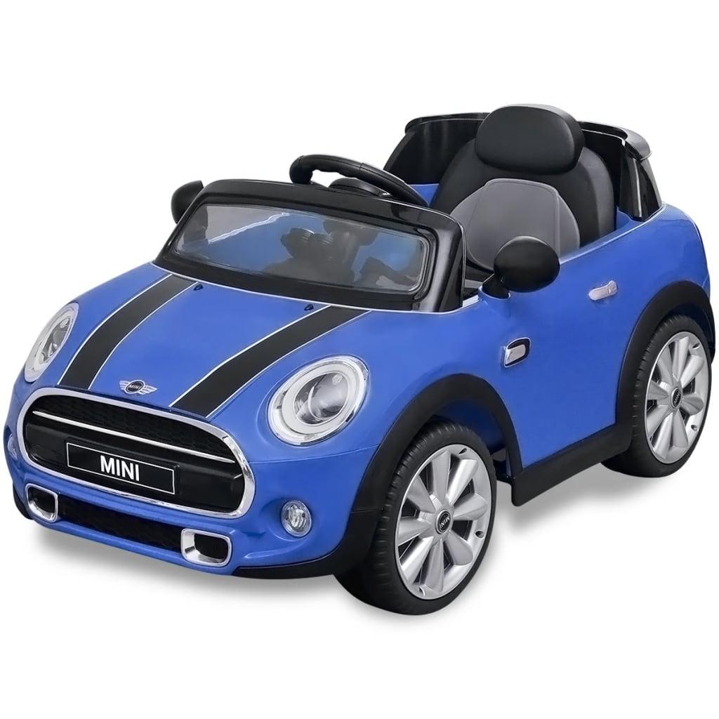vidaXL Mașină de tip ride-on Mini Cooper S, Albastră poza 2021 vidaXL