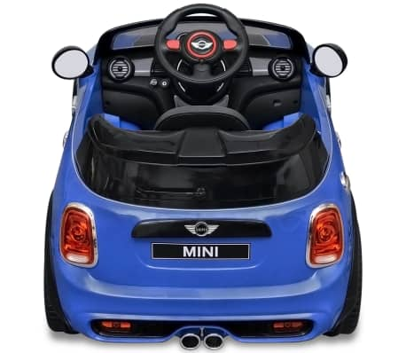 kinderauto elektroauto mini cooper s blau g nstig kaufen. Black Bedroom Furniture Sets. Home Design Ideas