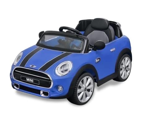 acheter vidaxl petite voiture cooper s bleu pas cher. Black Bedroom Furniture Sets. Home Design Ideas