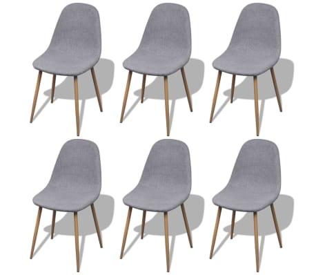 vidaxl esszimmerst hle 6 stk mit eisenbeinen stoffbezug hellgrau g nstig kaufen. Black Bedroom Furniture Sets. Home Design Ideas