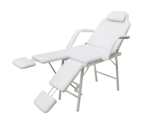 vidaXL Facial Bed Artificial Leather White[3/5]