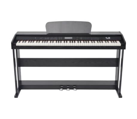 vidaXL Skaitmeninis pianinas, 88 klavišai, juoda melamino plokštė[2/8]