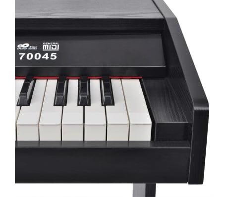 vidaXL Skaitmeninis pianinas, 88 klavišai, juoda melamino plokštė[4/8]