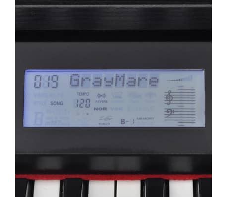 vidaXL Skaitmeninis pianinas, 88 klavišai, juoda melamino plokštė[6/8]