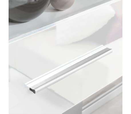 acheter meuble tv vitrine murale avec lumi re led 4 pi ces blanc pas cher. Black Bedroom Furniture Sets. Home Design Ideas