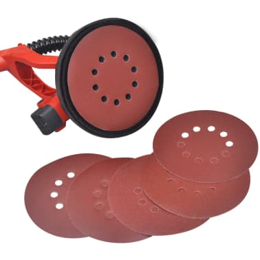 vidaXL Lixadeira drywall sander, vermelho 750 W[5/6]