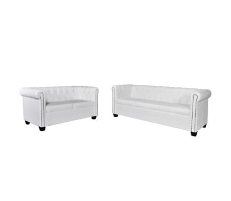 2/3/2+3-Sitzer Chesterfield Sofa Couch Kunstleder Wohnmöbel ...