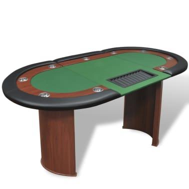 vidaXL Table de poker pour 10 joueurs avec espace de croupier Vert[1/9]