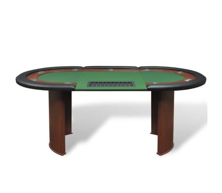 vidaXL Table de poker pour 10 joueurs avec espace de croupier Vert[2/9]