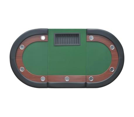 vidaXL Table de poker pour 10 joueurs avec espace de croupier Vert[6/9]