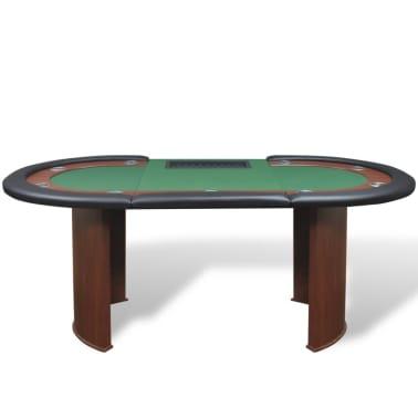 vidaXL Table de poker pour 10 joueurs avec espace de croupier Vert[3/9]