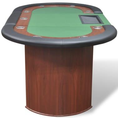 vidaXL Table de poker pour 10 joueurs avec espace de croupier Vert[5/9]