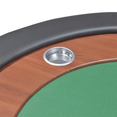 vidaXL Table de poker pour 10 joueurs avec espace de croupier Vert[8/9]