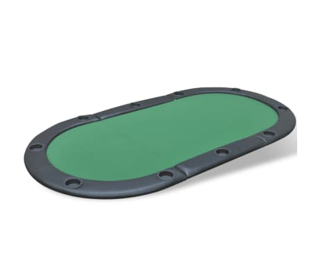vidaXL 10-Player Foldable Poker Tabletop Green[2/6]