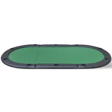 vidaXL 10-Player Foldable Poker Tabletop Green[3/6]