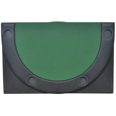 vidaXL 10-Player Foldable Poker Tabletop Green[4/6]