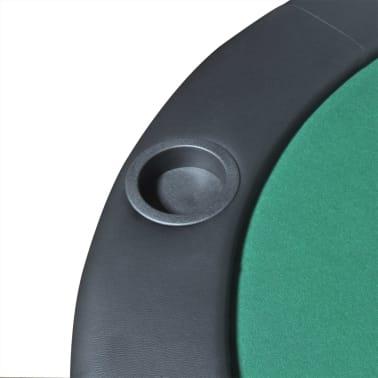 vidaXL 10-Player Foldable Poker Tabletop Green[5/6]