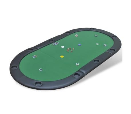 vidaXL 10-Player Foldable Poker Tabletop Green[1/6]