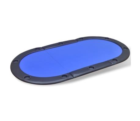 vidaXL 10 pers. pokerbord bordplade foldbar blå