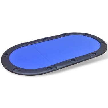 vidaXL 10-Player Foldable Poker Tabletop Blue[2/6]