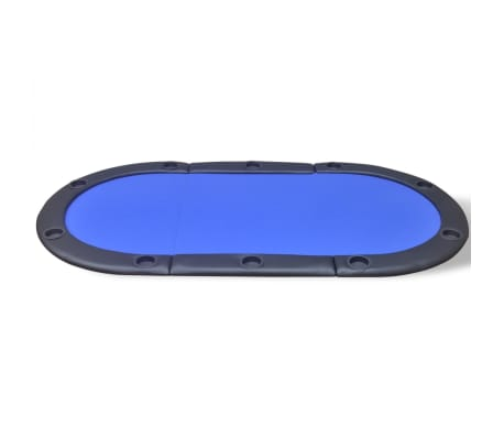 vidaXL 10-Player Foldable Poker Tabletop Blue[3/6]