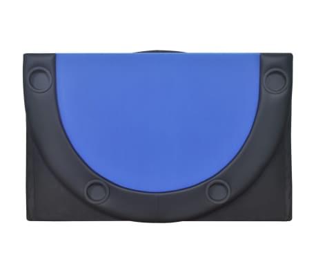 vidaXL 10-Player Foldable Poker Tabletop Blue[4/6]