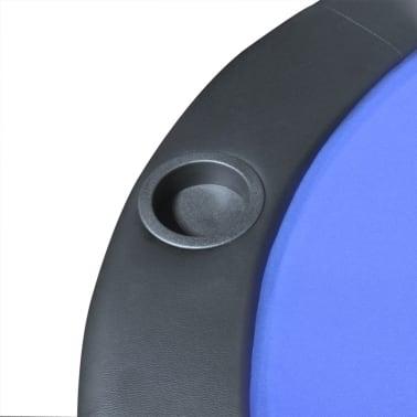 vidaXL 10-Player Foldable Poker Tabletop Blue[5/6]