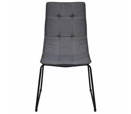 6 dunkelgraue esszimmerst hle mit eisenbeinen g nstig. Black Bedroom Furniture Sets. Home Design Ideas