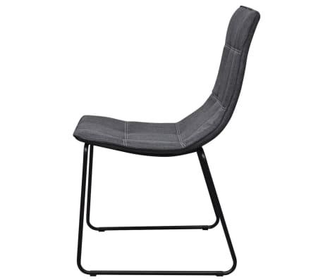 6 dunkelgraue esszimmerst hle mit eisenbeinen g nstig kaufen. Black Bedroom Furniture Sets. Home Design Ideas