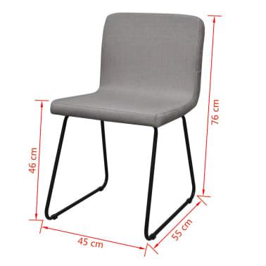 6 hellgraue esszimmerst hle stoffbezug mit eisenbeinen zum schn ppchenpreis. Black Bedroom Furniture Sets. Home Design Ideas