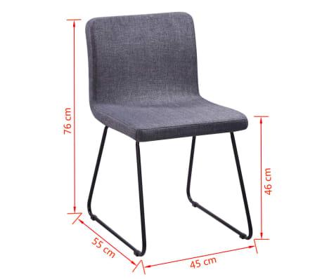 6 esszimmerst hle stoffbezug dunkelgrau eisenbeine g nstig kaufen. Black Bedroom Furniture Sets. Home Design Ideas