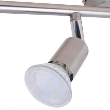 vidaXL Lubų Šviestuvas su 6 LED Lemputėmis, Glotnus Nikelis[6/9]