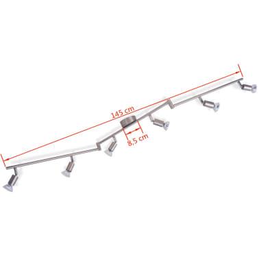 vidaXL Lubų Šviestuvas su 6 LED Lemputėmis, Glotnus Nikelis[7/9]