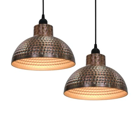 vidaXL Ceiling Lamps 2 pcs Semi-spherical Copper Colour