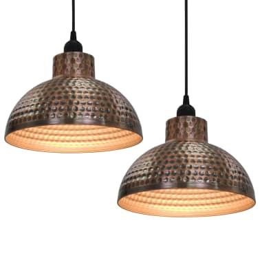 vidaXL lámparas colgantes de techo semiesféricas color cobre 2 uds[1/10]