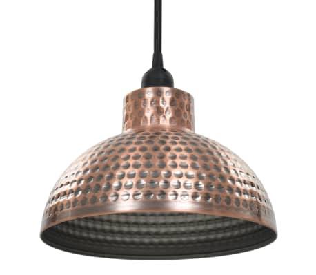 vidaXL lámparas colgantes de techo semiesféricas color cobre 2 uds[5/10]
