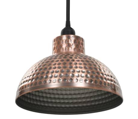vidaXL lámparas colgantes de techo semiesféricas color cobre 2 uds[6/10]