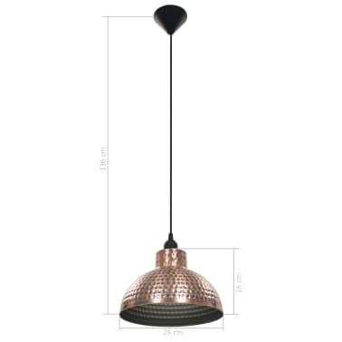 vidaXL lámparas colgantes de techo semiesféricas color cobre 2 uds[7/10]