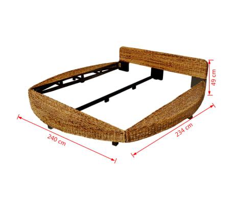vidaxl bettrahmen 180x200 cm abaca g nstig kaufen. Black Bedroom Furniture Sets. Home Design Ideas