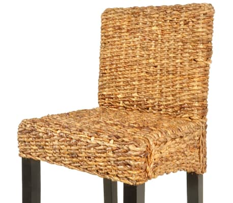 vidaXL Bar Stool 2 pcs Abaca Brown[4/5]