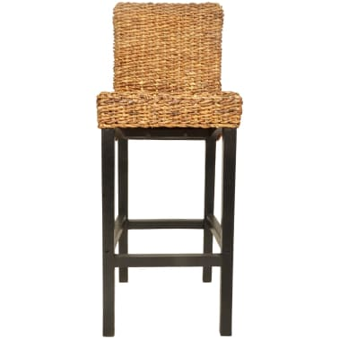 vidaXL Bar Stool 2 pcs Abaca Brown[3/5]
