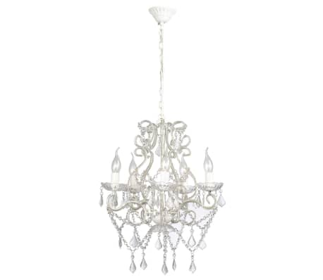"vidaXL Chandelier White 18""x25""[2/7]"