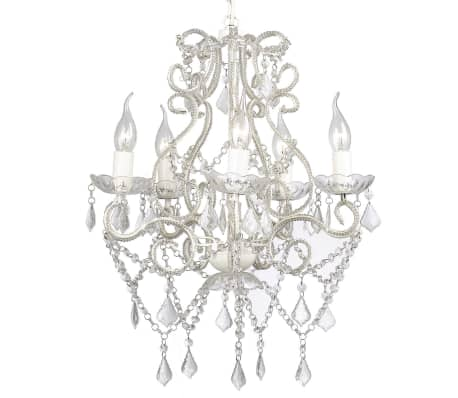 "vidaXL Chandelier White 18""x25""[5/7]"