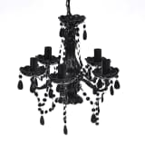 "vidaXL Chandelier Black 15""x18"""