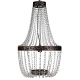 "vidaXL Chandelier Brown 16""x28"""