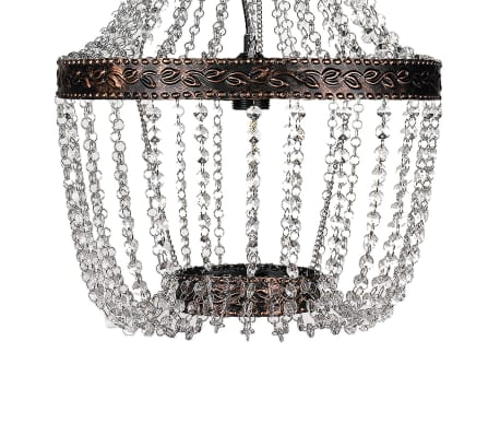"vidaXL Chandelier Brown 16""x28""[2/5]"