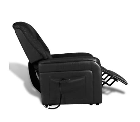 vidaXL Stand-up Armchair Artificial Leather Black[3/10]